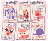 Valentine Printables - Animal Valentine Cards