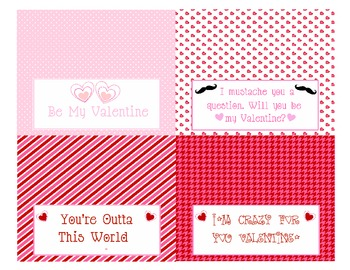 Valentine Printables (FREE) treat topper, goody bag, wall art posters
