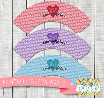 Valentine Printables - Love Muffin Wrappers