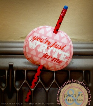 Valentine Printables - Pencil Valentine Tag