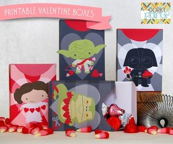 Valentine Printables - Star Heroes Valentine Boxes