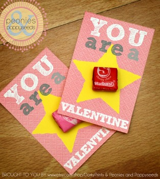 Valentine Printables - Star Valentine Cards