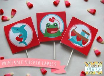 Valentine Printables - Valentine Sucker Labels