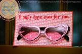 Valentine Printables - Valentine Sunglasses Card
