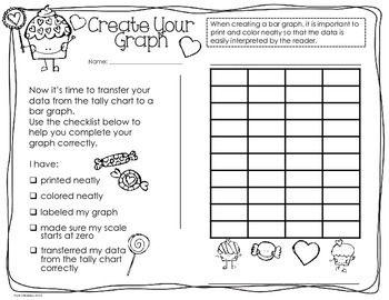 Valentine Probability and Graphing Activity: Hands-On Math for 2nd/3rd Graders