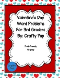 Valentine Problem Solving 3rd Grade Math