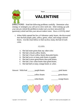 Valentine Problem Solving/Critical Thinking