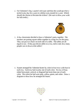 Valentine Problem Solving/Critical Thinking