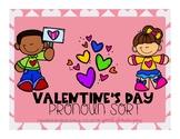 Valentine Pronoun Sort