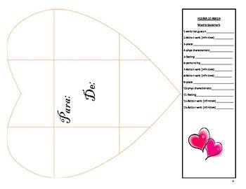 Valentine Pronouns after Prepositions Poem Spanish