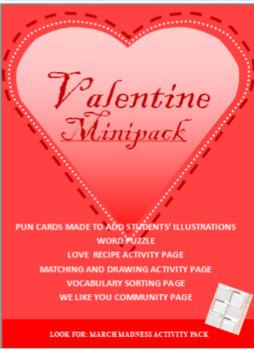 Valentine, Punny blank cards, Community