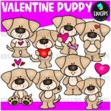 Valentine Puppy Clip Art Bundle {Educlips Clipart}