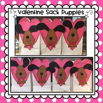 Valentine Puppy Craft & Valentine Sack Pattern
