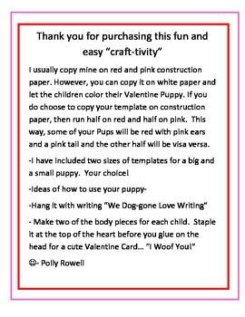 Valentine Puppy Craft-tivity
