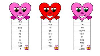 "Valentine ""Quick"" Sight Words-Set 2"