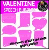 Valentine Quote Bubbles Clip Art Bundle {Educlips Clipart}