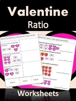 Valentine Ratio Worksheets