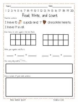 Valentine Read, Write, and Count