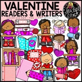 Valentine Readers and Writers Clip Art Set {Educlips Clipart}