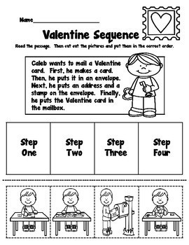 Valentine Reading Comprehension Packet