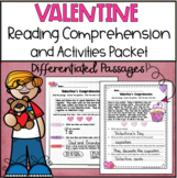 Valentine Reading Comprehension and Activity Packet