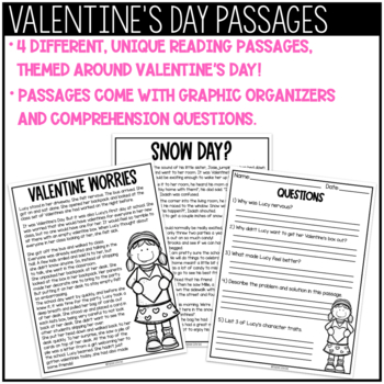 Reading Comprehension Passages and Questions   Valentine's Day
