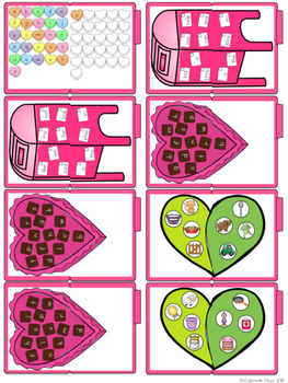 Valentine Reading Skills File Folder Tasks (27 Tasks Included)