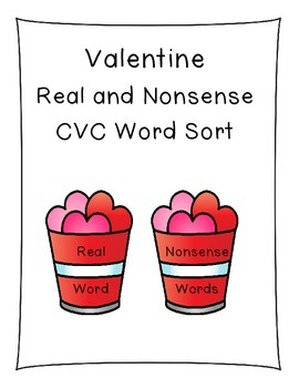 Real and Nonsense CVC Word Sort