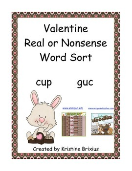 Valentine Real or Nonsense Word Sort