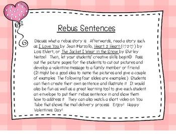 Valentine Rebus  Writing Sentences