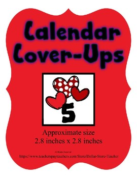 Valentine Red Hearts themed Calendar Cover-Ups