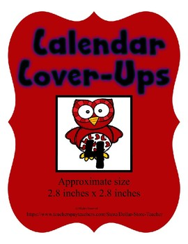 Valentine Red Owl themed Calendar Cover-Ups