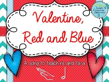 Valentine, Red and Blue: a folk song for half note