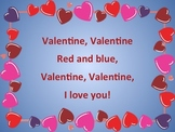 Valentine Red and Blue: PDF/PowerPoint and Song Sorting Activity
