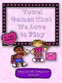 Valentine Regular and Irregular Vowel Games