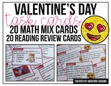 Valentine Review Task Cards (20 Math, 20 Reading)