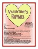 Valentine Rhyme Game