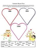 Valentine Rhyme Time Hearts - Rhyming Words