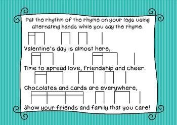 """Valentine Rhyme"" a rhythmic poem for Valentine's Day"