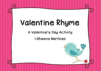 """Valentine Rhyme"" a rhythmic poem for Valentine's Day"