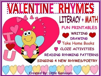 Valentine Rhymes For Math and Literacy