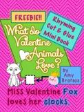 Valentine Rhyming Cut & Glue Beginning Reader Mini-Book