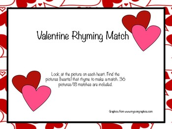 Valentine Rhyming Match