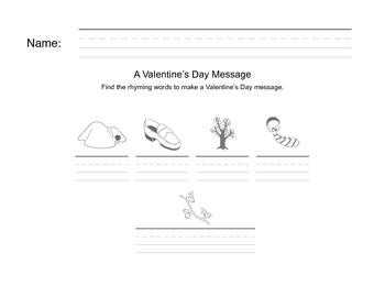Valentine Rhyming Mystery Message