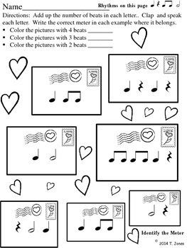 Valentine Rhythm Fun Printables