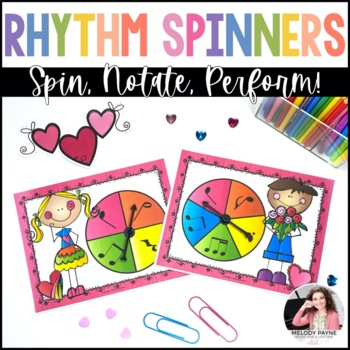 Valentine Rhythm Spinners {Color and Ink-Friendly}