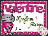 Valentine Rhythm Strips - Half Note / Rest