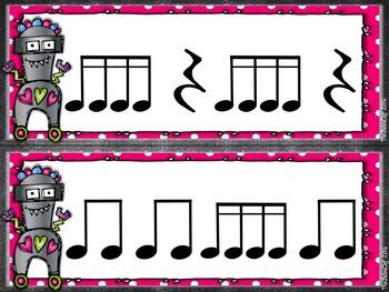 Valentine Rhythm Strips - Sixteenths