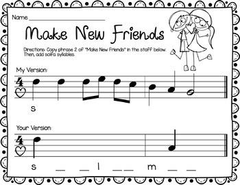Valentine Rhythm and Melody Worksheets