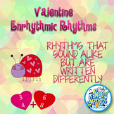 Valentine Rhythms - 3/4 & 6/8 Rhythms with Valentine Poem